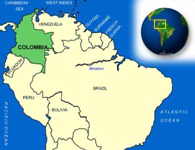 Colombia River Kort Colombia Floder Kort Syd Amerika Amerika